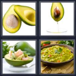 4 fotos 1 palabra 8 letras fruta verde
