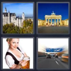 4 fotos 1 palabra 8 letras mujer con jarra de cerveza