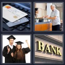 4 fotos 1 palabra 8 letras tarjetas de crédito universitarios banco