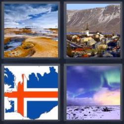 4 fotos 1 palabra 8 letras paisaje aurora bandera