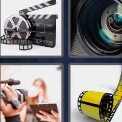4 fotos 1 palabra ocho letras cinta de película cámara fotogramas