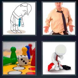 4 fotos 1 palabra fichas de colores y un dado