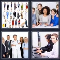 4 fotos 1 palabra 8 letras uniformes de trabajo