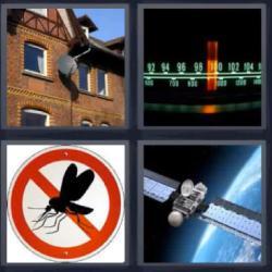 4 fotos 1 palabra edificio radio mosquito satelite