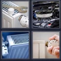 4 fotos 1 palabra calefactores, motor, herramienta